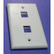Face plate, 2 hole for snap in modular jacks, 1 piece.