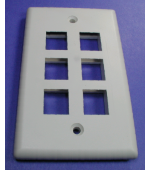Cat5E faceplates for modular jacks