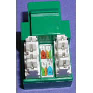 Cat 5e modular jack, green, 8 position