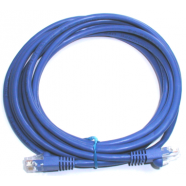 Cat 5e computer cable, 3' blue, 24 AWG