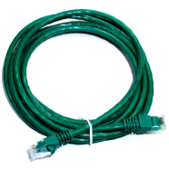 Cat 5e computer cable, 3' green, 24 AWG.