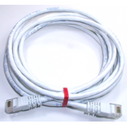 Cat 5e computer cable, 3' white, 24 AWG.