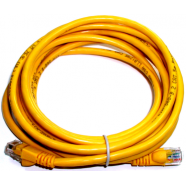 Cat 5e computer cable, 3' yellow, 24 AWG.