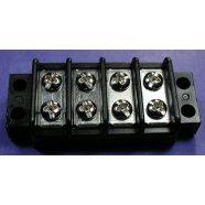 Terminal block, 4 gang, double row, #7704-1