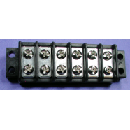 Terminal block, 6 gang, double row, #7806-1