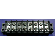 Terminal block, 8 gang, double row, #7808-1