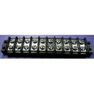 Terminal block, 10 gang, double row, #7810-1