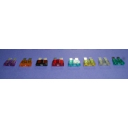 Automotive fuse, standard blade, 3 AMP, purple, 5 pieces.