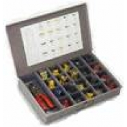 Electrical terminal and connector kit with tool