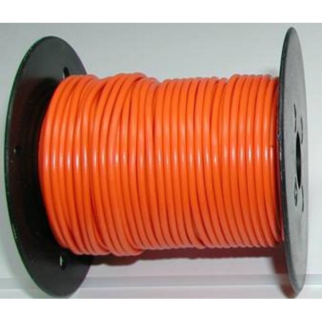 Primary wire, 12 ga orange, 100 foot roll, #PC12ORG-C