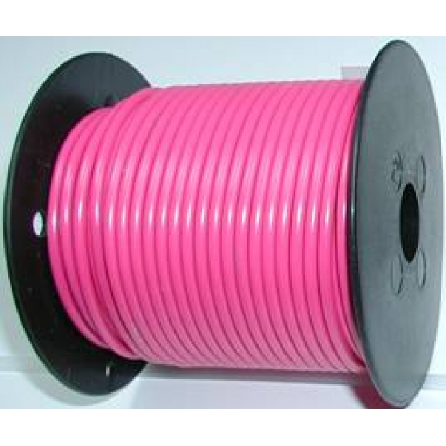Primary wire, 12 ga pink, 100 Foot roll, #PC12PNK-C