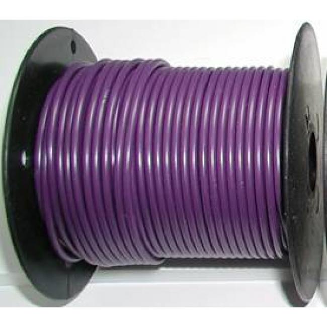 Primary wire, 12 ga purple, 100 foot roll, #PC12PUR-C