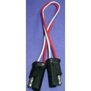 Trailer plug, moulded, 2 cond. 18 gauge