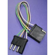Trailer plug 4 way, 18 gauge quick dis-connect